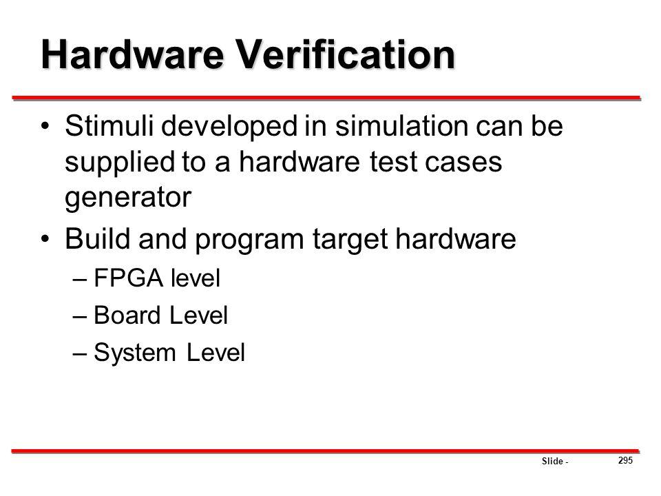 Hardware Verification