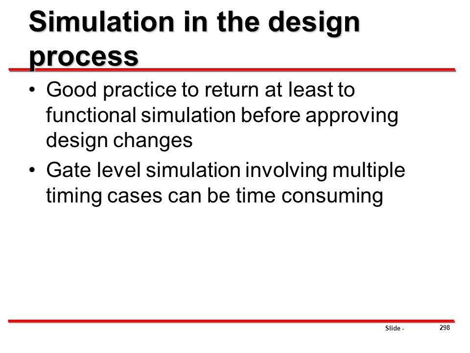 Simulation in the design process