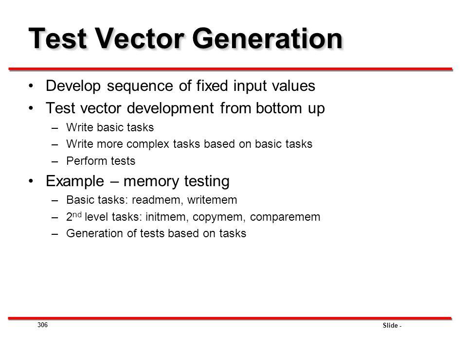 Test Vector Generation
