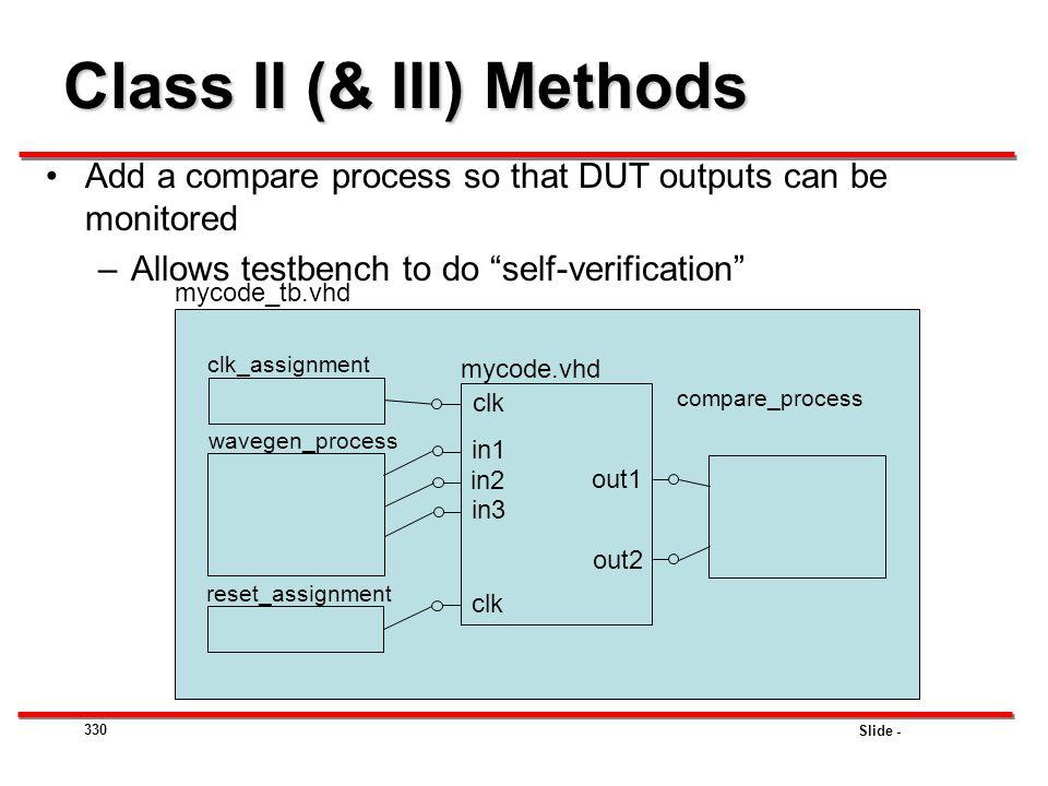 Class II (& III) Methods