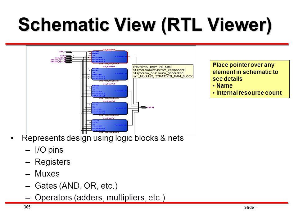 Schematic View (RTL Viewer)