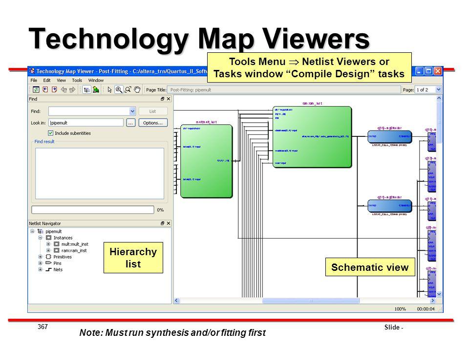 Technology Map Viewers