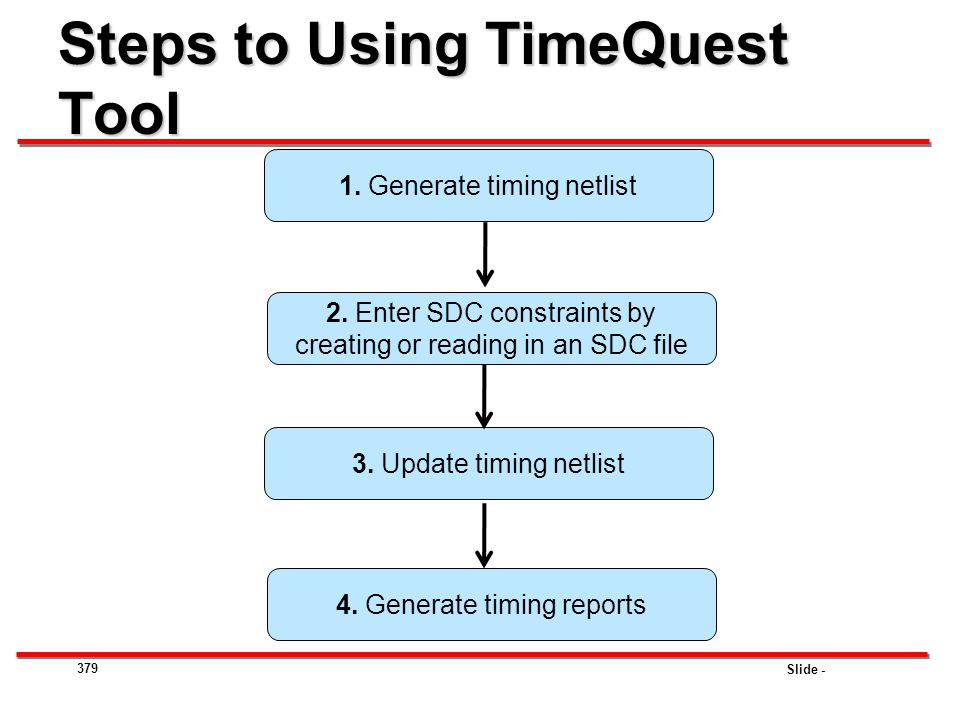 Steps to Using TimeQuest Tool
