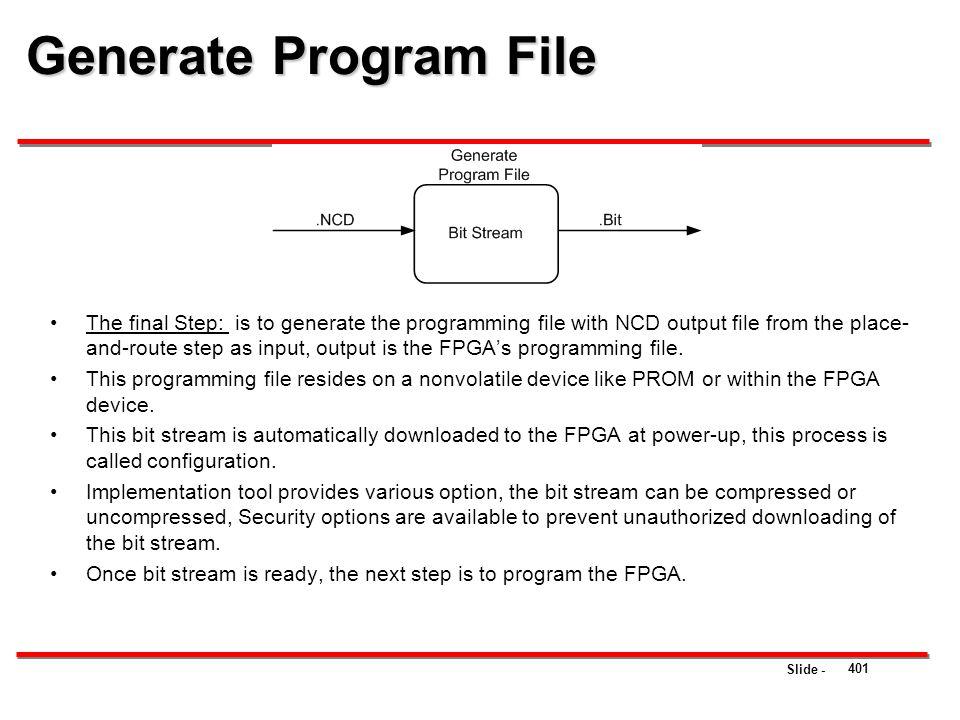 Generate Program File