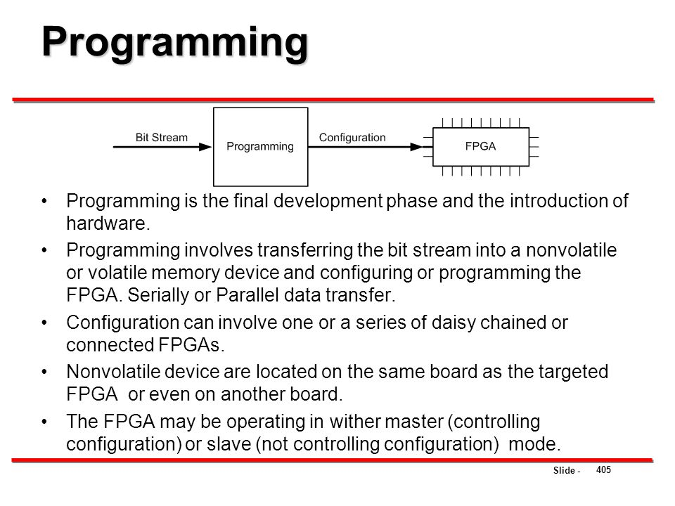Programming Programming is the final development phase and the introduction of hardware.