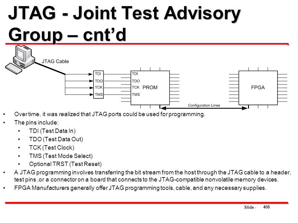 JTAG - Joint Test Advisory Group – cnt'd