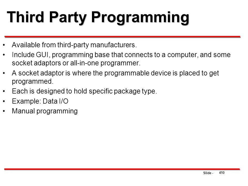 Third Party Programming