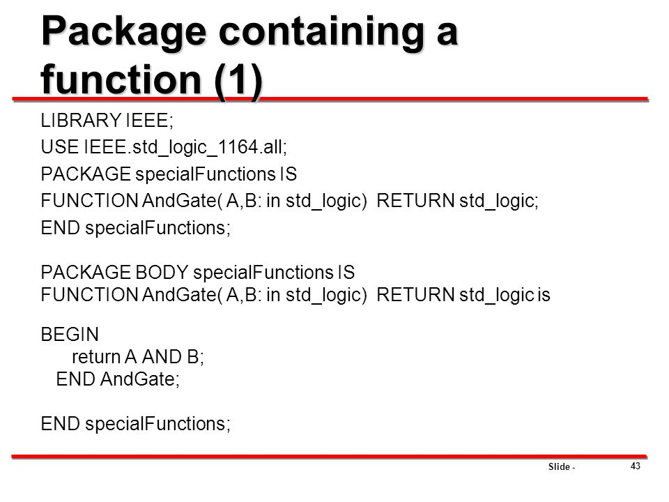 Package containing a function (1)