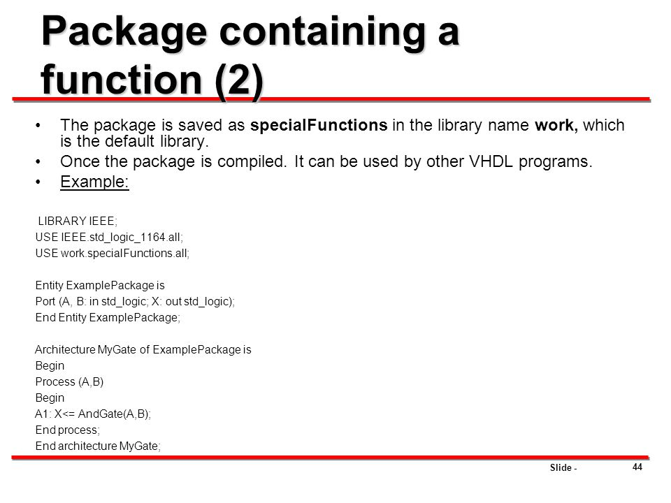 Package containing a function (2)