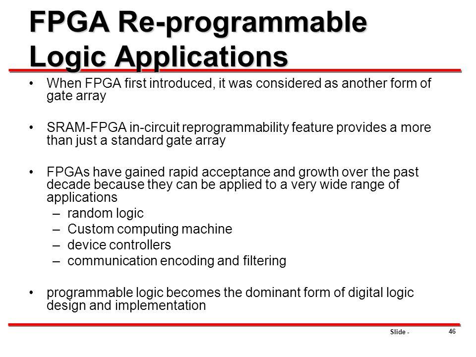 FPGA Re-programmable Logic Applications