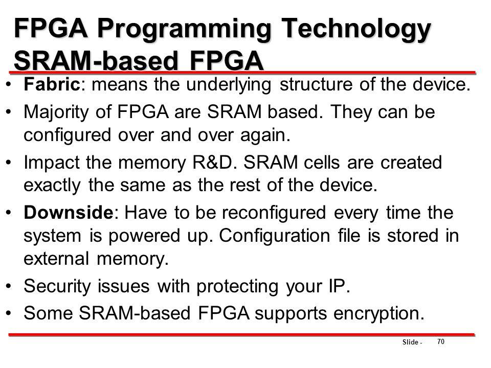 FPGA Programming Technology SRAM-based FPGA