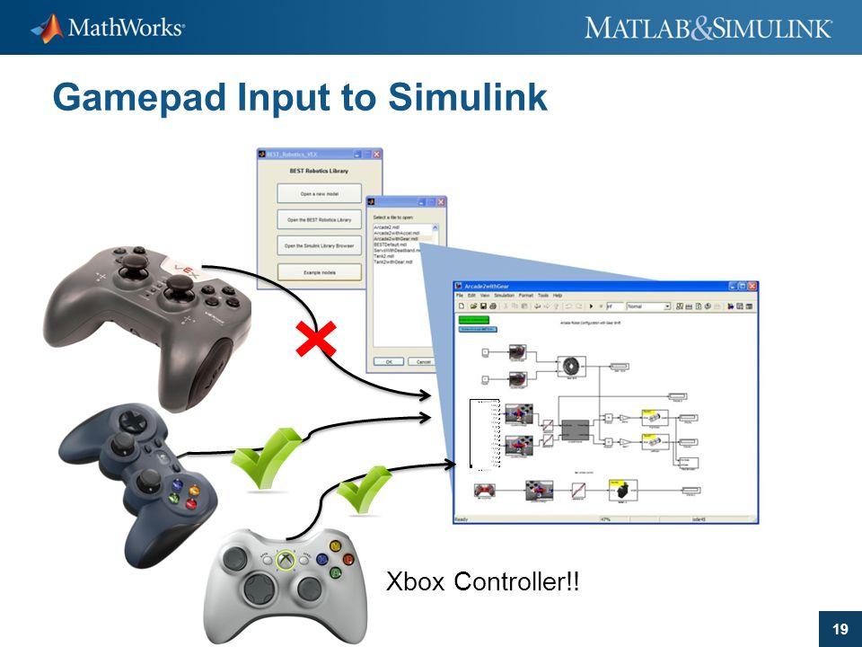 Gamepad Input to Simulink
