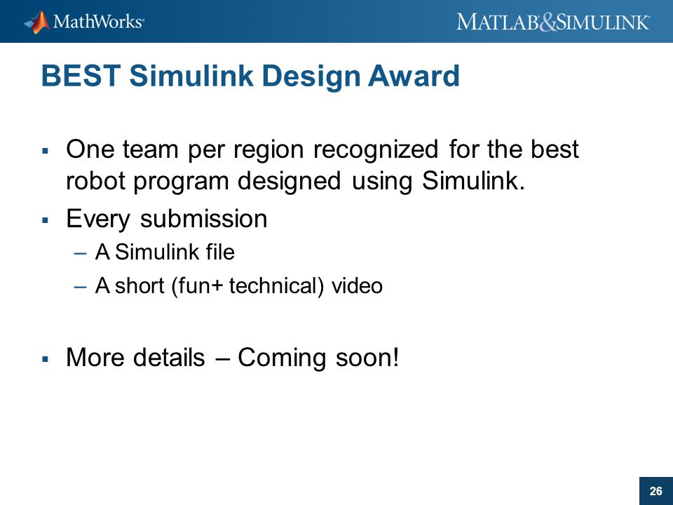 BEST Simulink Design Award