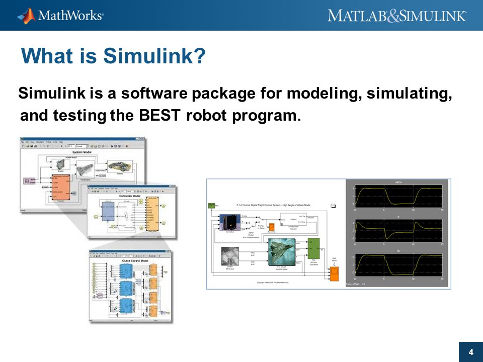 What is Simulink Simulink is a software package for modeling, simulating, and testing the BEST robot program.