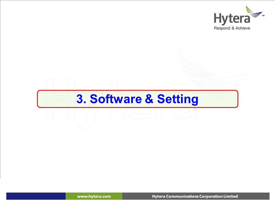 3. Software & Setting