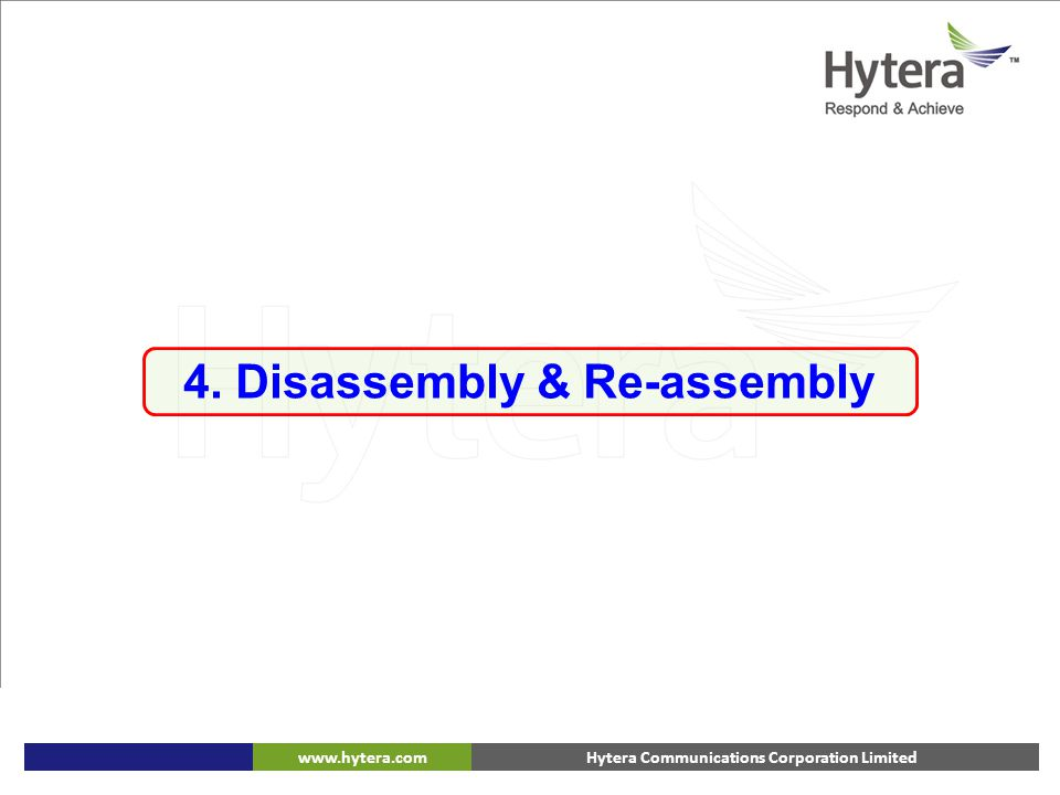 4. Disassembly & Re-assembly