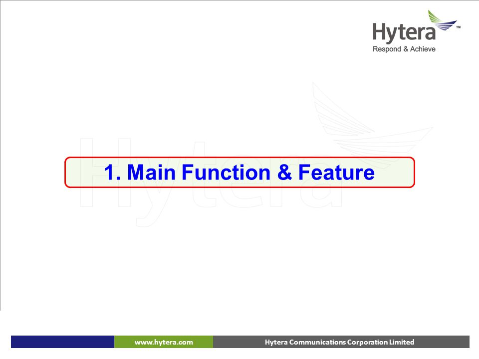 1. Main Function & Feature