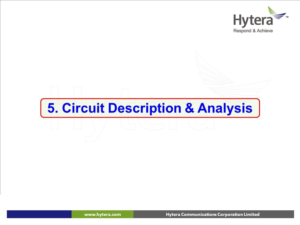 5. Circuit Description & Analysis