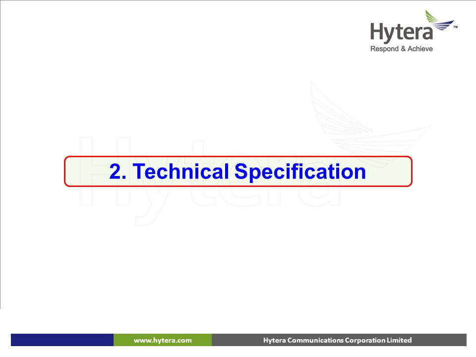 2. Technical Specification