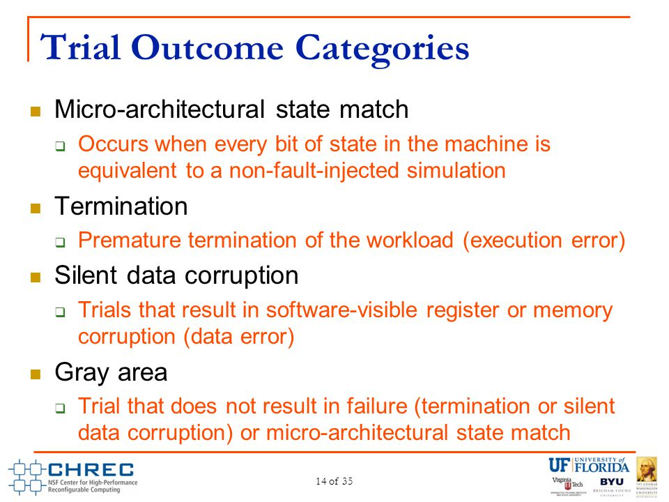 Trial Outcome Categories