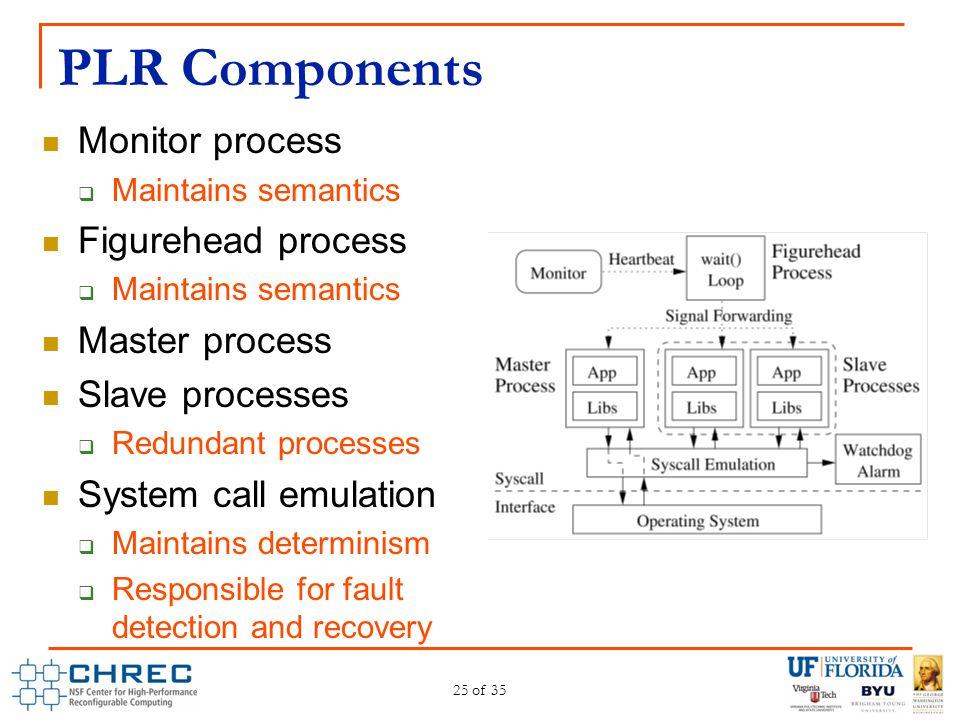 PLR Components Monitor process Figurehead process Master process
