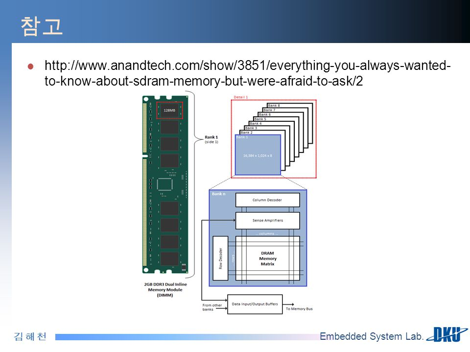 참고 http://www.anandtech.com/show/3851/everything-you-always-wanted-to-know-about-sdram-memory-but-were-afraid-to-ask/2.