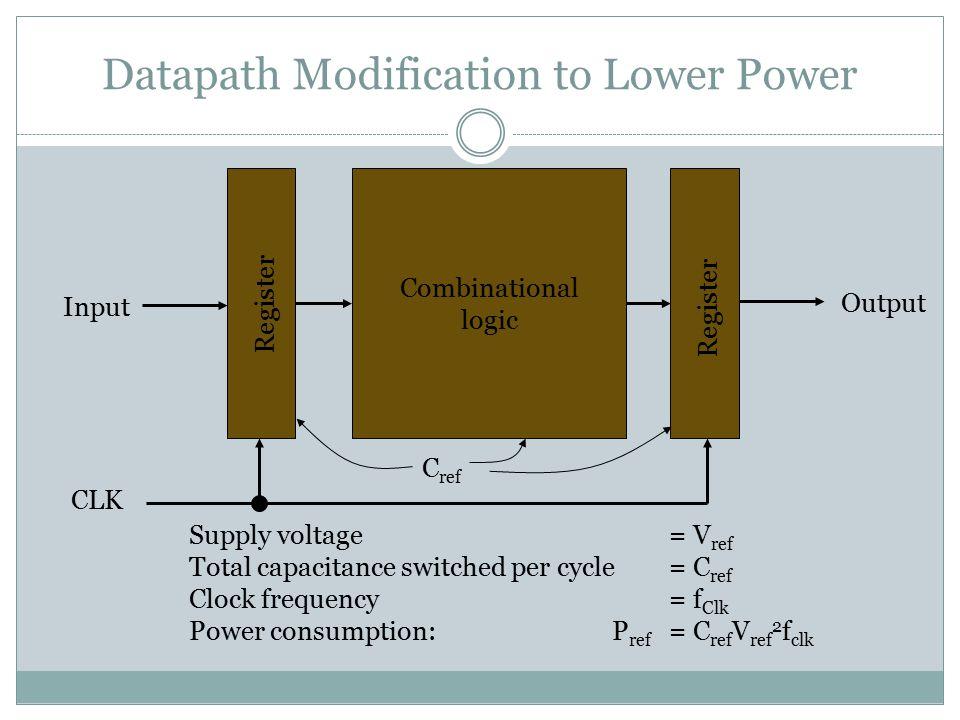 Datapath Modification to Lower Power
