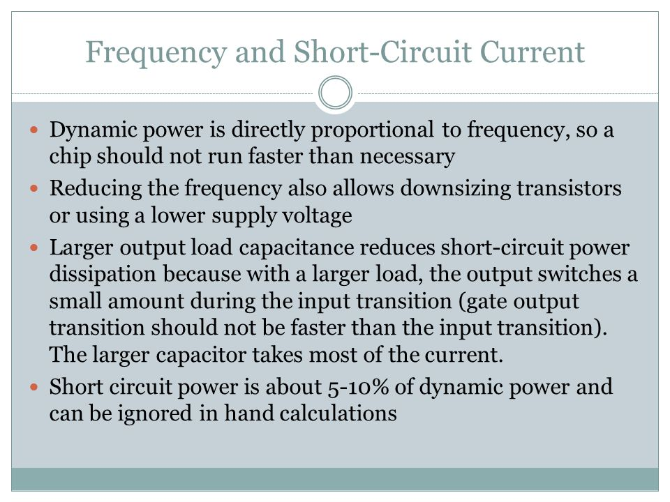 Frequency and Short-Circuit Current