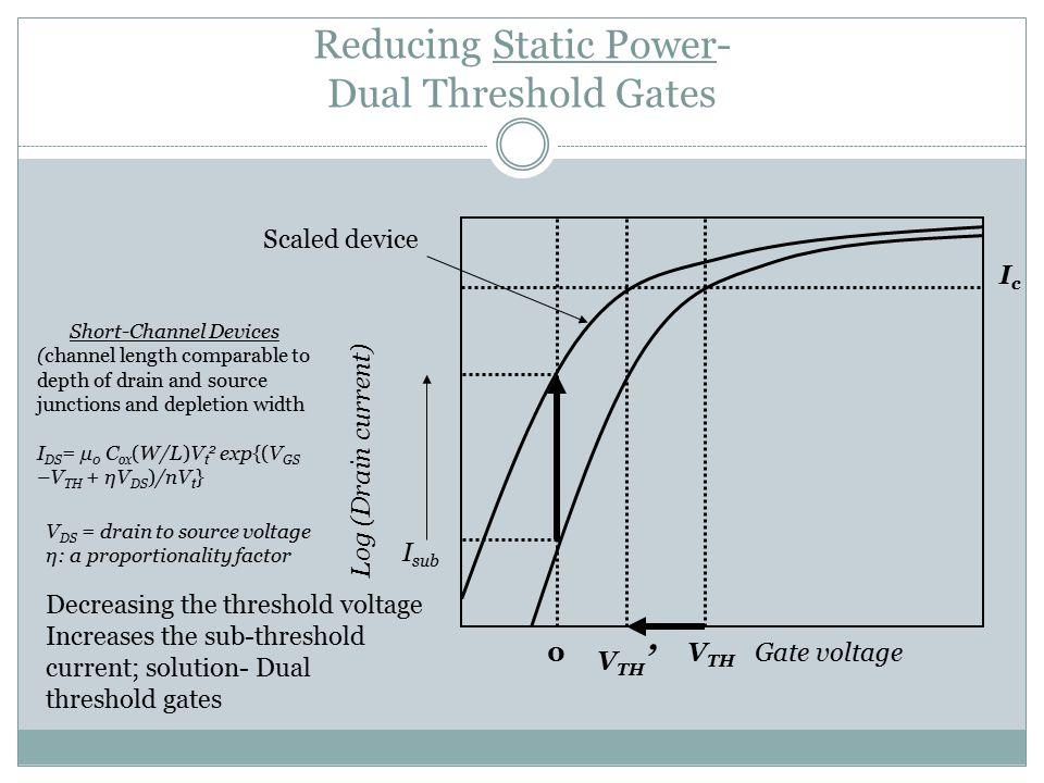 Reducing Static Power- Dual Threshold Gates