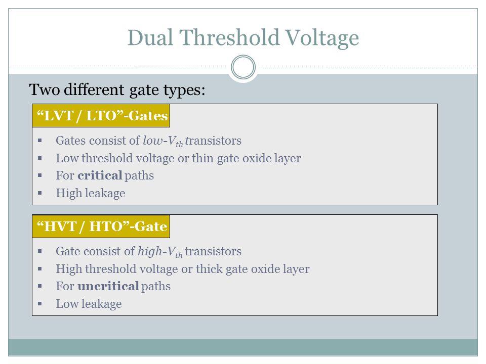 Dual Threshold Voltage