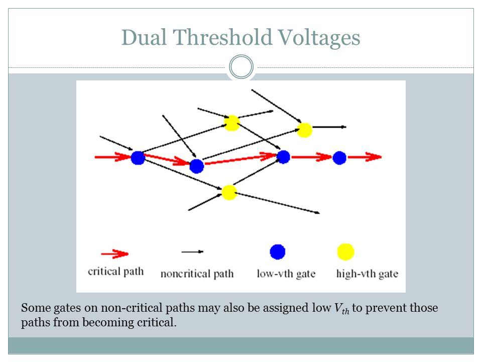 Dual Threshold Voltages