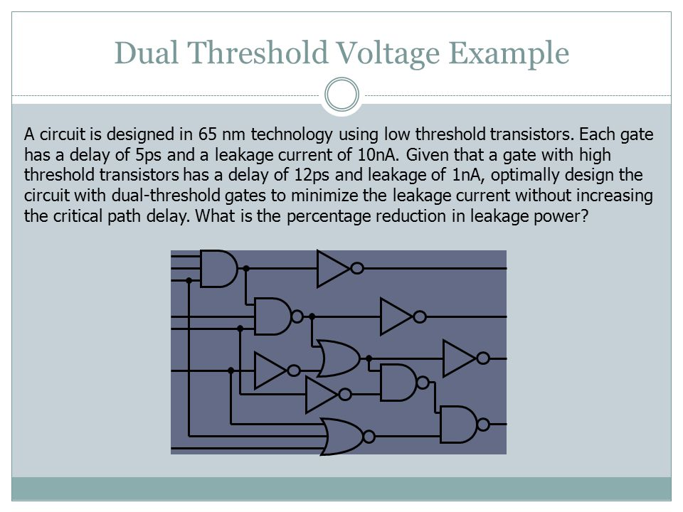 Dual Threshold Voltage Example