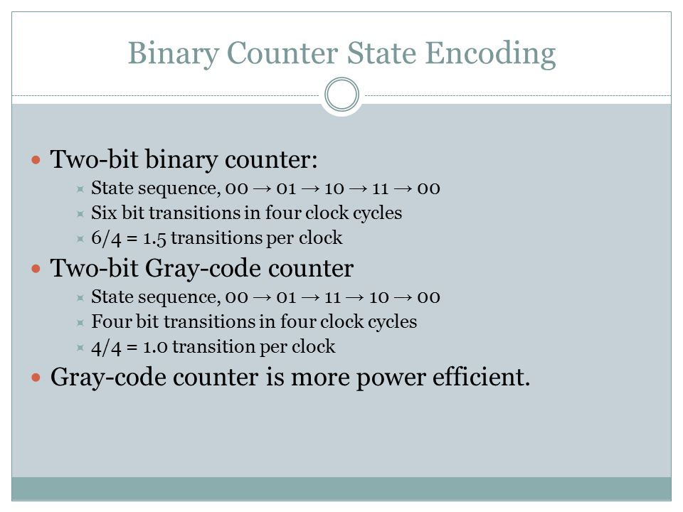 Binary Counter State Encoding