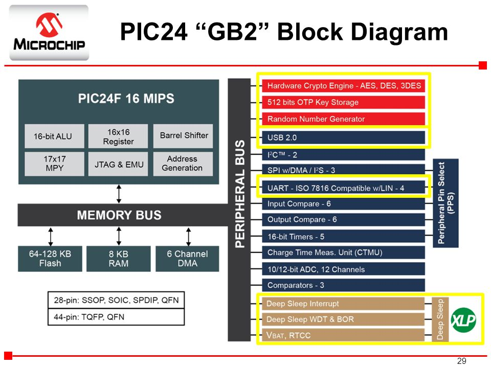 PIC24 GB2 Block Diagram