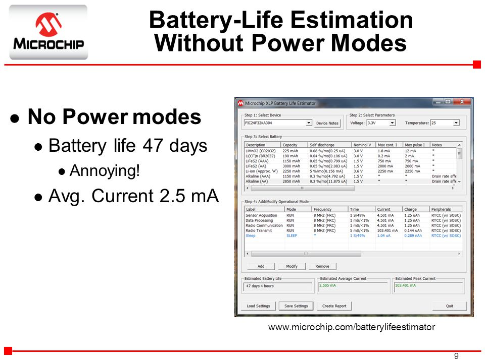 Battery-Life Estimation Without Power Modes