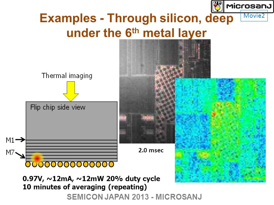Examples - Through silicon, deep under the 6th metal layer