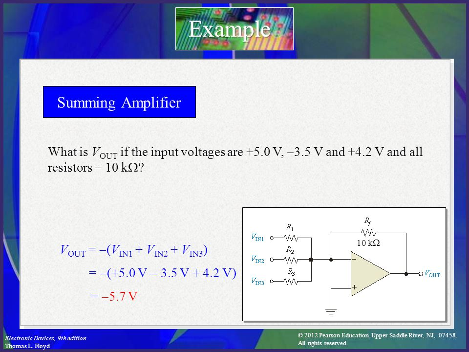 Example Summing Amplifier