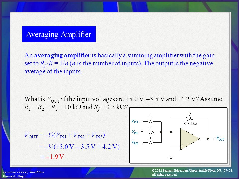 Averaging Amplifier