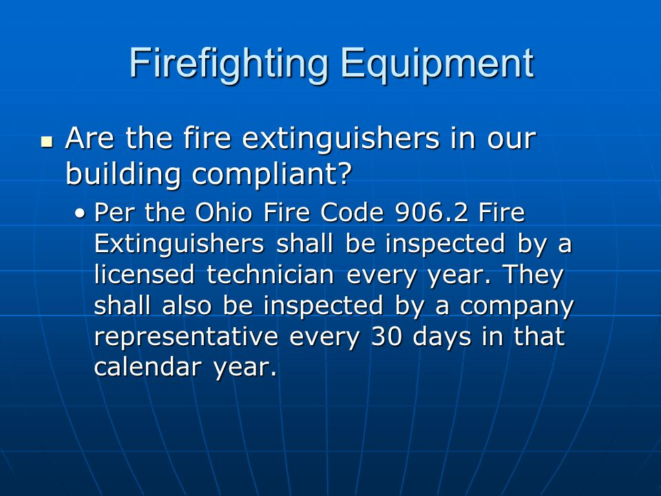 Firefighting Equipment