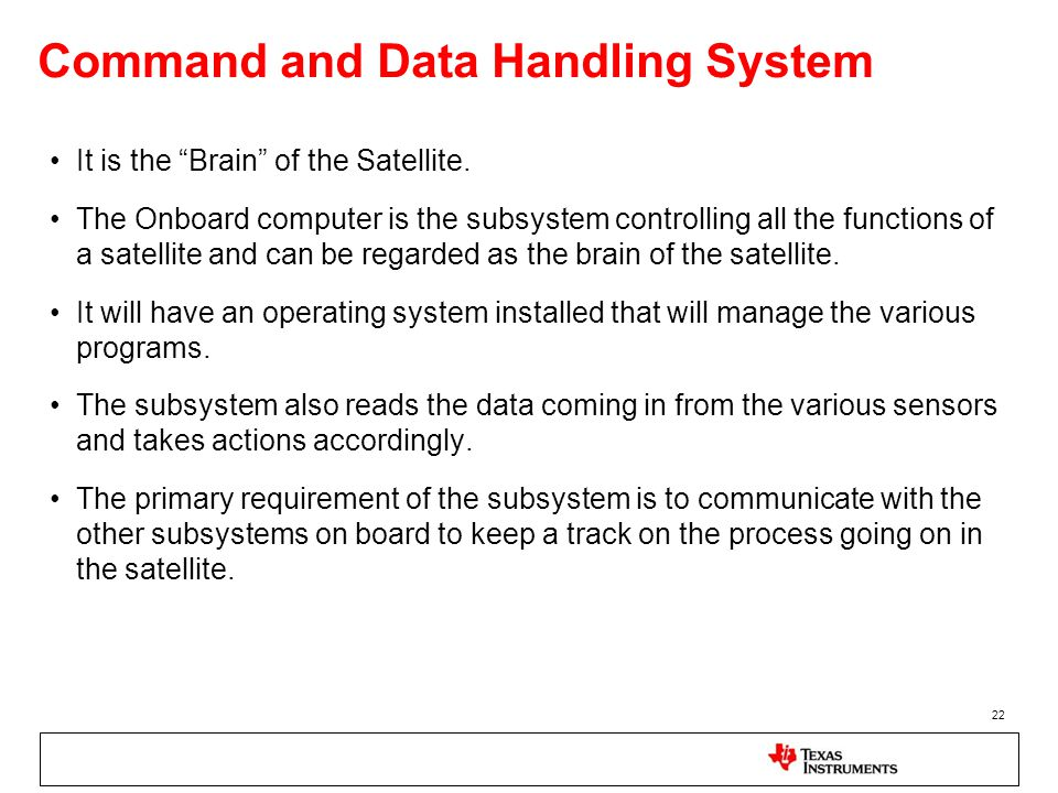 Command and Data Handling System