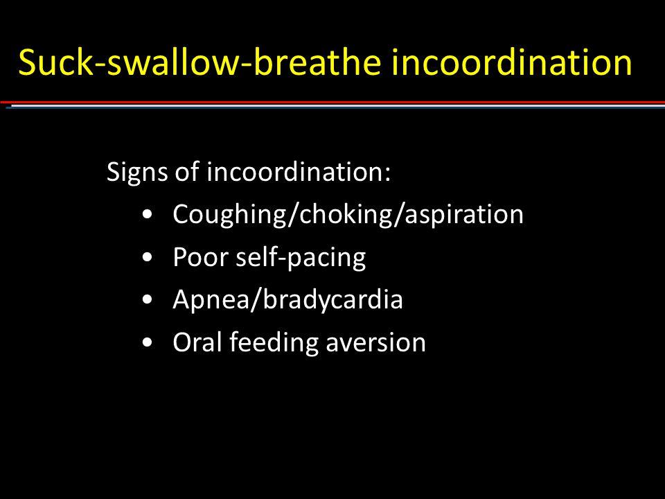 Suck-swallow-breathe incoordination