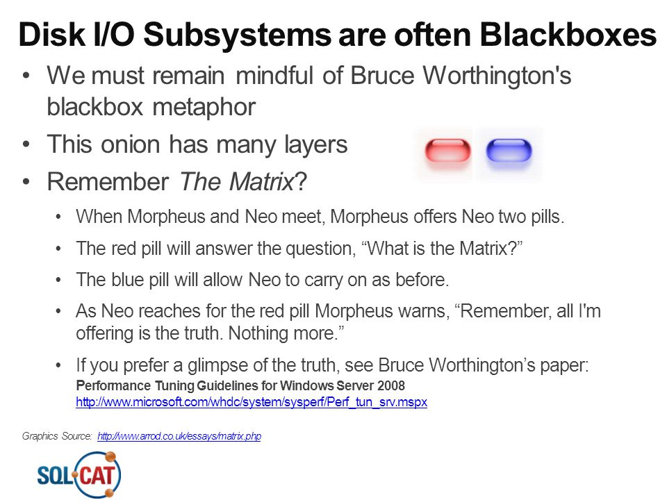 Disk I/O Subsystems are often Blackboxes