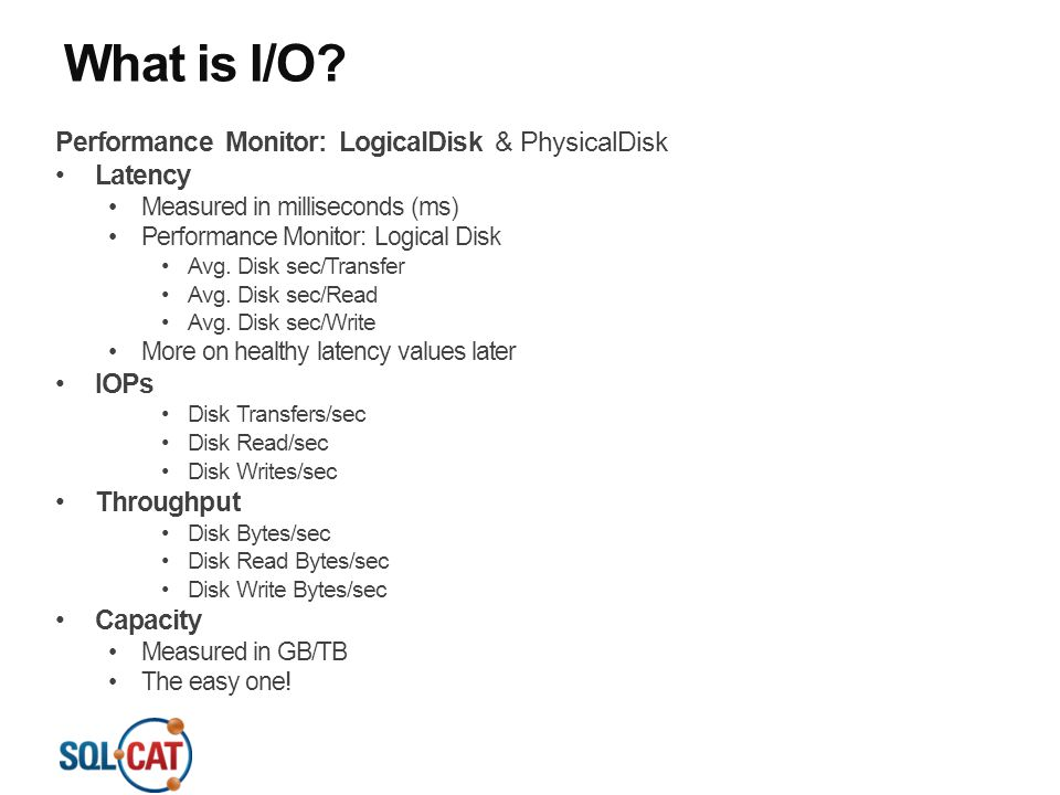 What is I/O Performance Monitor: LogicalDisk & PhysicalDisk Latency
