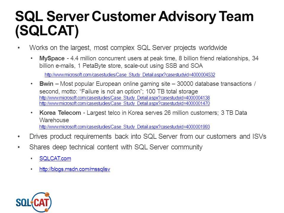 SQL Server Customer Advisory Team (SQLCAT)