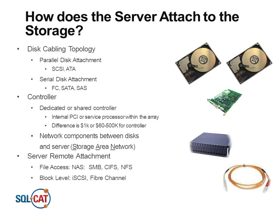 How does the Server Attach to the Storage