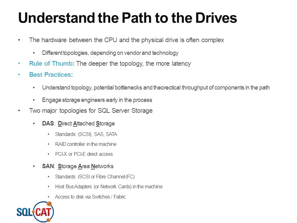 Understand the Path to the Drives