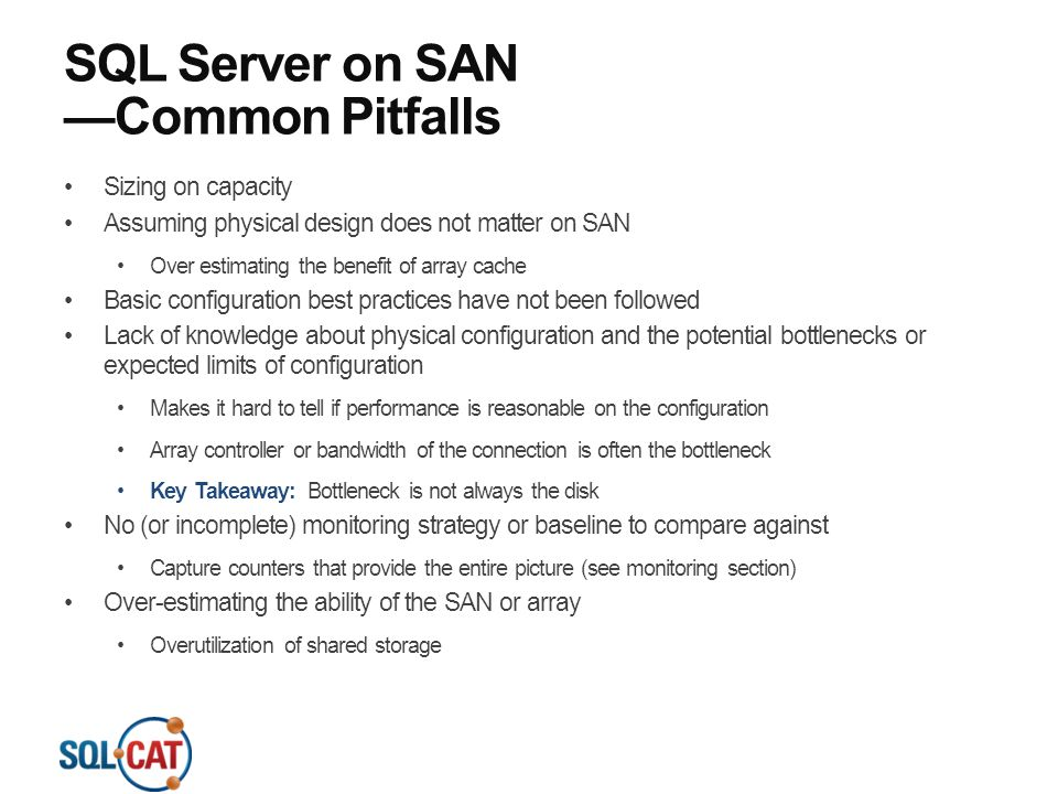 SQL Server on SAN —Common Pitfalls