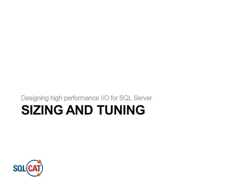 Designing high performance I/O for SQL Server