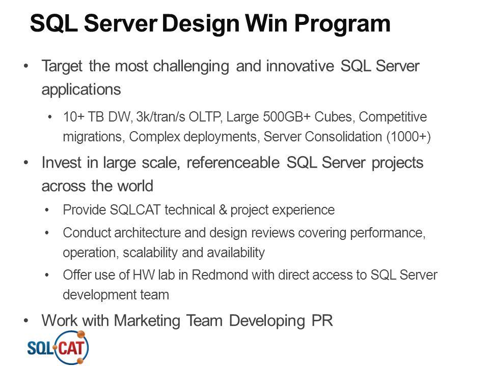 SQL Server Design Win Program