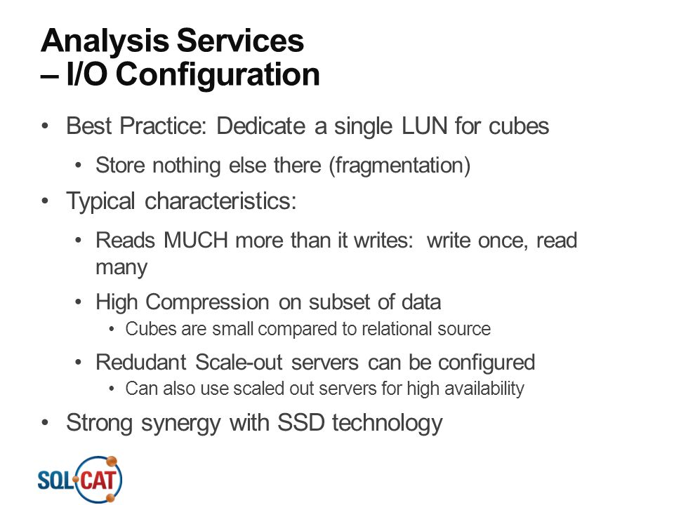 Analysis Services – I/O Configuration
